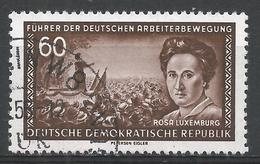 German Democratic Republic 1955. Scott #250 (U) Rosa Luxemburg, German Communist * - [6] Democratic Republic