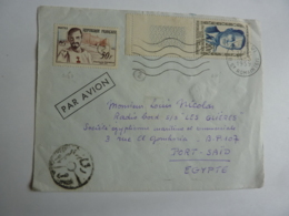 """Erinnophilie Charles De Foucauld Vers """"LES GLIERES""""  PORT SAID  Cachet Egypte Messageries Maritimes   Nov 2018 Alb 5 - Marcophilie (Lettres)"""