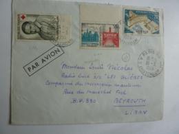 """Erinnophilie  Divers Vers """"LES GLIERES""""  BEYROUTH LIBAN  Messageries Maritimes  Par Avion Nov 2018 Alb 5 - Marcophilie (Lettres)"""