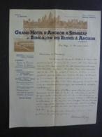 CAMBODGE  Lettre écrite Du Grand Hôtel D'Angkor à SIEMREAP  Et Bagalow Des Ruines à M. Le Résident  2018 Alb 5 - Autographs
