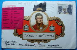 2007 Albania SPECIAL COVER Sent From Presto DENMARK To TIRANA, RETOUR Label INCONNU - Albania
