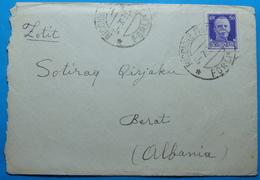 1939 Albania Covet Sent From RICCIONE MARINA - FORLI Italy To BERAT - Albania