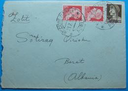 1939 Albania Cover Sent From RICCIONE MARINA - FORLI Italy To BERAT - Albania