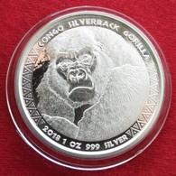 Congo 5000 Fr 2018 Gorilla Silver - Congo (Repubblica Democratica 1998)