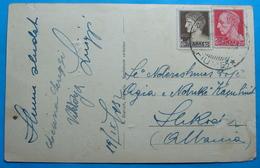 1932 Albania Postcard ABAZZIA (Opatija) Sent From FIUME Italy To SCUTARI, R - Albania