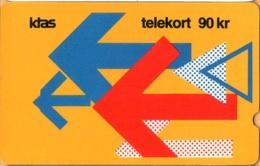 Denmark - GPT, TDKD025, Arrows On Yellow, 2KTSB, 90 Dkr., 2.500ex, 6/89, VF Used - Denmark