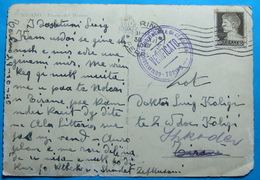 1940 Albania Postcard MILANO Sent From TORINO (FERROVIE) Italy To SCUTARI, R, VERIFICATO CENZURA Torino - Albanie
