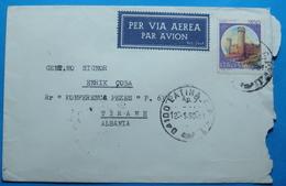 1990 Albania Airmail Cover Sent From LATINA Italia To TIRANA - Albania