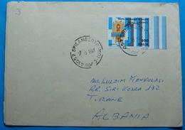 1991 Albania Airmail Cover Sent From SPILAMBERTO Italia To TIRANA - Albania