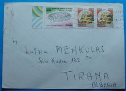 1992 Albania Airmail Cover Sent From MOLFETTA Italia To TIRANA - Albania