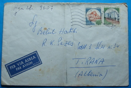 1988 Albania Airmail Cover Sent From ROMA (San Lorenzo) Italia To TIRANA - Albania