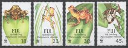 Fiji 1988 Mi# 586-89** FROGS - Fidji (1970-...)
