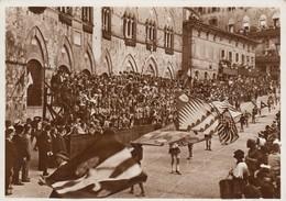 SIENA-IL PALIO-PALCO CON COMPARSE-CARTOLINA VERA FOTOGRAFIA-VIAGGIATA IL 22-4-1943 - Siena