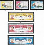 St Kitts SG75-80 1981 Royal Wedding Set 6v Complete Umounted Mint [38/31633/1D] - St.Kitts And Nevis ( 1983-...)