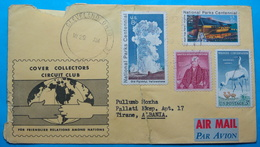 1987 Albania Airmail Cover Sent From CLEVELAND (Ohio) USA To TIRANA, Torn Repaired - Albania