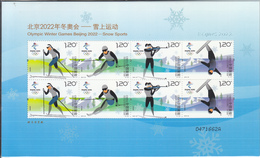 China 2018-32 Olympic Winter Game Beijing 2022-Snow Sports Sheetlet - Winter 2022: Beijing