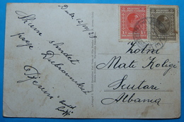 1929 Albania Dubrovnik Postcard Sent From DUBROVNIK Yugoslavia Kingdom To SCUTARI - Oblitérés