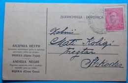 1932 Albania STATIONERY Sent From RIJEKA CRNOJEVICA Montenegro, Yugoslavia Kingdom To SCUTARI (SHKODER) - Albania