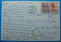 1966 Albania BITOLA Postcard Sent From Bitola Macedonia, Yugoslavia To TIRANA - Albania