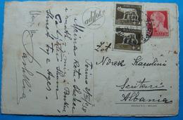 1938 Albania TORINO Postcard Sent From TORINO Italia To SHKODRA - Albania