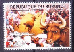Festivals, San Fermín Festivities, Spain, Running Bull, Burundi 2012 MNH - Carnavales