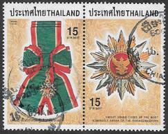 Thailand SG2071a 1998 Order Of The Direkgunabhorn 2x15b Se-tenant Pair Good/fine Used [38/31636/4D] - Thailand