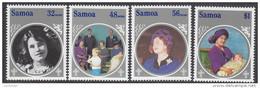 SAMOA, 1985 QUEEN MOTHER 4 MNH - Samoa