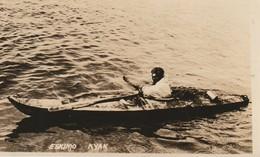 Eskimo  Kyak (Kayak) Real Photo Post Card - Native Americans