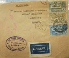O) 1931 INDIA, FLIGHT, DE HAVILLAND HERCULES OVER LAKE SIDEWAYS-  C1  2a -C3  4a  - C2 3a,LOHAR CHAWL  BOMBAY G.P.O, AIR - India