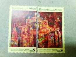 Malaysia Day Celebration 2018 Painting Art Set MNH - Malaysia (1964-...)