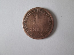 Lombardie-Venetie 1 Soldo 1862 Coin Austrian Empire Occupation - Regional Coins