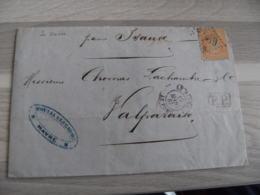 1867 Le Havre Lettre P P Port Paye Cachet Rouge Timbre Empire 40 C Orange Gros Chiffres 3789 - Marcofilie (Brieven)