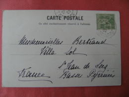 Poste Francaise Bureau Constantinople Pera 1902 Obliteration Sur Lettre - Postmark Collection (Covers)