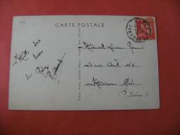 Rodez A Capdenac Cachet Ambulant Convoyeur Poste Ferroviaire Sur Lettre - Marcophilie (Lettres)