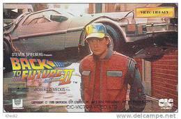 Télécarte Japon / 110-011 - Film Cinéma - BACK TO THE FUTURE / MICHAEL J. FOX - Japan Movie Phonecard - Kino TK - 10838 - Cinéma