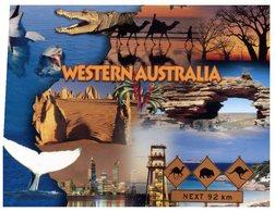 (20) Australia - WA - Map With Crocodile Etc - Maps