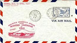 NOUMEA - 1er Courrier Aérien Entre Ille Calédonie Et FIDJI -affr. N° 32 Ae SEUL - Briefe U. Dokumente
