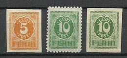 Estland Estonia 1919 Michel 6 - 8 MNH - Estland