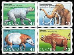 Canada (Scott No.1532a - Animaux Préhistoriques / Prehistoric Animals) [**] - 1952-.... Règne D'Elizabeth II