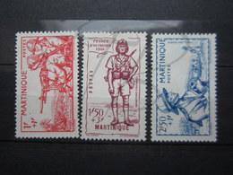 VEND BEAUX TIMBRES DE MARTINIQUE N° 186 - 188 , (X) !!! - Martinique (1886-1947)