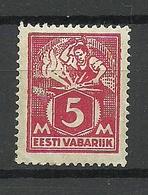 Estonia Estonie 1922 Blacksmith Michel 37 A * - Estonia