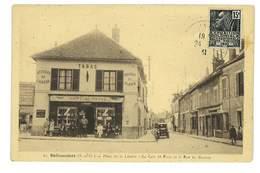 CPA 91 BALLANCOURT LE CAFE DE PARIS ET LA RUE DU MARTROY - Ballancourt Sur Essonne