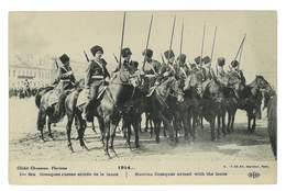 CPA MILITARIA GUERRE 1914-18 COSAQUES RUSSES ARMES DE LA LANCE - Guerra 1914-18