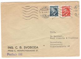 9722 - Pour Le LUXEMBOURG - Böhmen Und Mähren