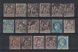 FRANCE SAGE SMALL LOT - 1876-1878 Sage (Type I)
