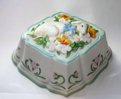 SUPERBE LE CORDON BLEU The Franklin Mint, 1986 Céramique Suspension Moule Agneau - Ceramics & Pottery