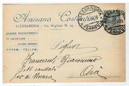 Cartolina Commerciale Alessandria - Amisano Costantino Grande Assortimento In Calzature - Alessandria