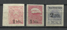 ESTLAND ESTONIA 1920 Michel 18 - 20 * - Estonia