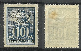 Estland Estonia 1923 Michel 39 A Type III (thin Paper) * - Estonia