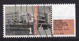 Nederland - Architectuur Wederopbouw - Tweede Vrijzinnig Christelijk Lyceum - Den Haag - Gebruikt/used - NVPH 3585 - Periode 2013-... (Willem-Alexander)